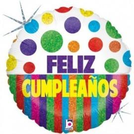 Globo barato feliz cumpleaños 45 cm