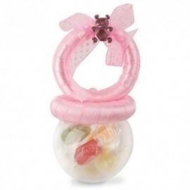 Sonajero rosa detalle bebe o peso Globo barato 9,5 cm