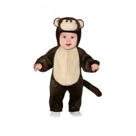 Disfraz barato monito peluche para bebe 12-18 meses