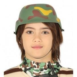 Casco militar infantil para niño