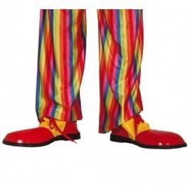 Zapatos rojos de payaso para hombre