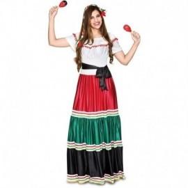 Disfraz barato mejicana mujer o catrina talla L 42