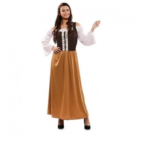 Disfraz barato mesonera medieval para mujer talla 42