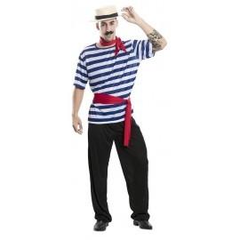 Disfraz barato Canoutier gondolero para hombre Talla L