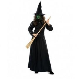 Disfraz barato bruja negra clasica para mujer talla 42