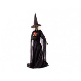 Figura bruja halloween con luz y Sonido 195 cm