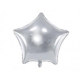 Globo barato forma estrella 48 cm plata
