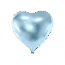 Globo barato forma corazon 45 cm azul claro