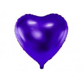 Globo barato forma corazon 45 cm morado