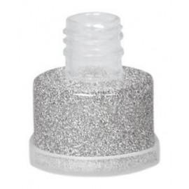 Purpurina Plata suelta grimas con aplicador facil