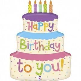Globo barato tarta de cumpleaños 69 cm
