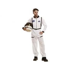 Disfraz barato astronauta blanco adulto talla s espacial
