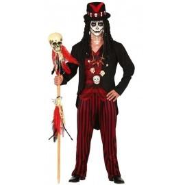 Disfraz barato de Chaman brujo Voodoo para hombre