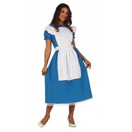 Disfraz barato Alicia vestido azul tallas mujer