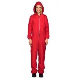Disfraz barato ladron mono rojo capcuha mujer