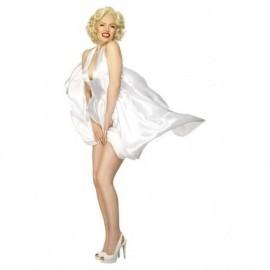 Disfraz barato Marilyn Monroe blanco para mujer