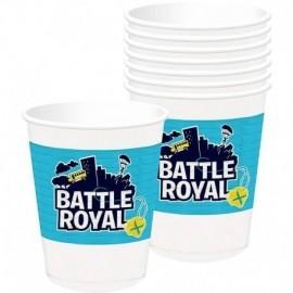 Vasos Battle Royal simil Fornite 8 uds 473 ml