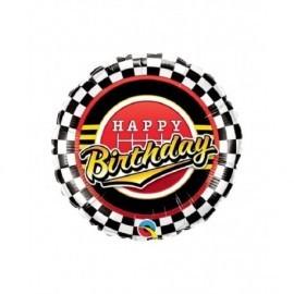 Globo cumpleaños racing carreras 45 cm
