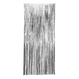 Cortina metalizada plata 100x240 cm