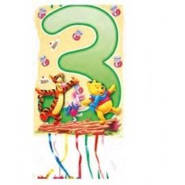 Piñata Winnie The Pooh numero 4 33x46 cm