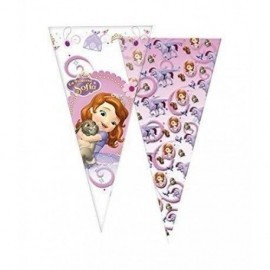Bolsa cono de cumpleaños Princesa Sofia 20x40 cm 1 ud