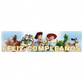 Cartel Feliz Cumpleaños Toy Story 90x20 cm
