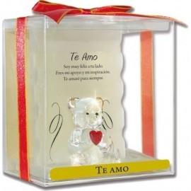 Figura oso te amo san valentin