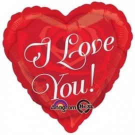 Globo corazon rojo I love you 45 cm
