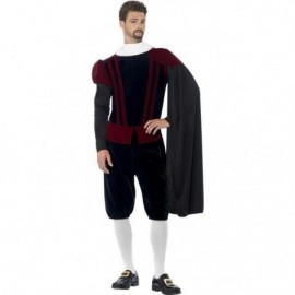 Disfraz tudor deluxe talla l hombre siglo xviii