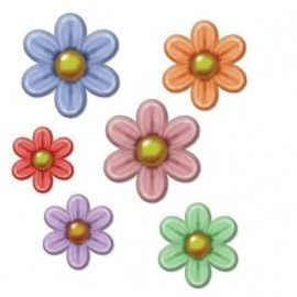 Flores decoracion pared hawai hippie 23-13-5 cm