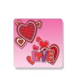 Carteles love corazones plastico decoracion
