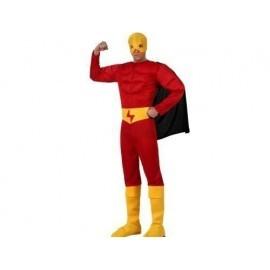 Disfraz de heroe musculoso rojo flash t.m-l 10244