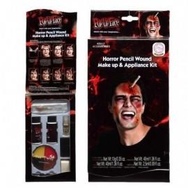 Kit halloween herida lapiz mas maquillaje terror