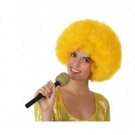 Microfono fiesta dorado cantante 27 cm 14119
