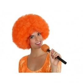 Microfono fiesta naranja cantante 27 cm 14140