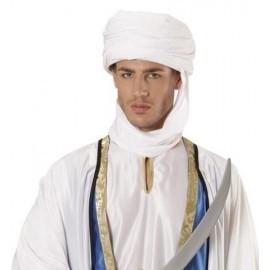 Turbante arabe blanco del desierto laden