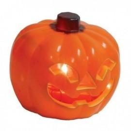 Calabaza con luz 10 cm para decoracion halloween