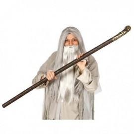 Baston gandalf 140 cm baculo de mago palo largo