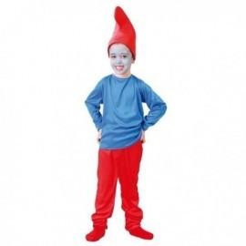 Disfraz de papa pitufo enanito rojo