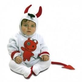 Disfraz de diablillo blanco halloween bebe