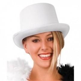 Sombrero chistera satin blanco gala