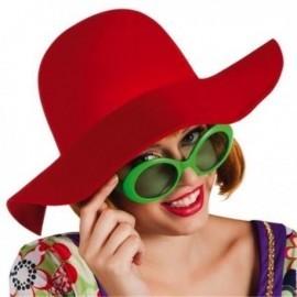 Pamela roja hippie años 60-70 sombrero