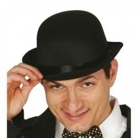 Bombin negro alta calidad raso sombrero 13351
