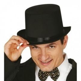 Chistera negra alta calidad raso sombrero 13353