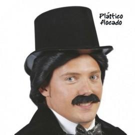 Chistera negra flocada barata sombrero 13450