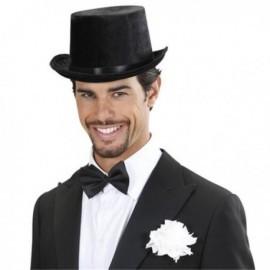 Sombrero chistera negra de terciopelo adulto