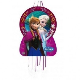 Piñata frozen elsa y ana princesa de hielo silueta