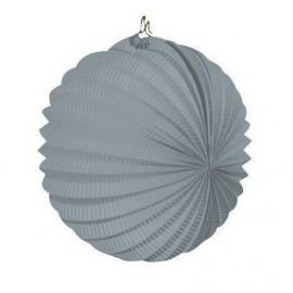 Farol gris esferico 22 cm farol fiesta feria