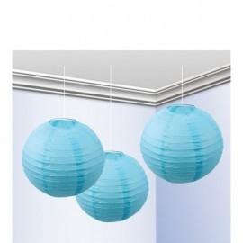 Falores azul celeste 3 unidades 25 cm decoracion