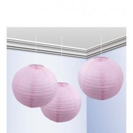 Falores rosa pastel 3 unidades 25 cm decoracion